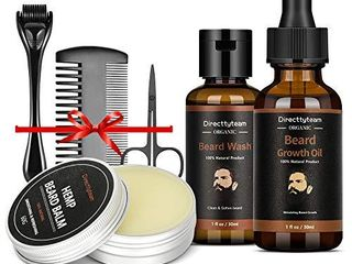 Beard Growth Kit  Beard Growth Oil for Hair and Beard Growth  Beard Balm  Derma Roller Beard Wash Mustache Comb and Scissor  Best Gift for Man