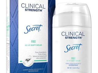 Secret Clinical Strength Antiperspirant and Deodorant for Women Soft Solid  FREE  Sensitive Unscented 1 6 oz