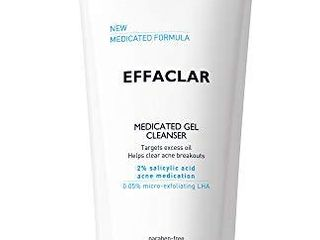 la Roche Posay Effaclar Medicated Gel Acne Face Wash  Facial Cleanser with Salicylic Acid for Acne   Oily Skin  Suitable for Sensitive Skin  6 76 Fl  Oz