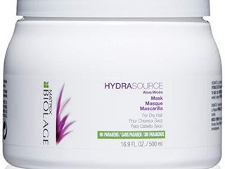 BIOlAGE Hydrasource Mask   Revives Dry Strands For Increased Hair Shine   Manageability  Paraben Free   For Dry Hair   16 9 Fl  Oz