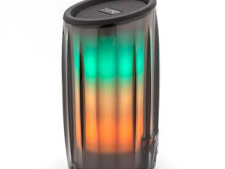iHome PlAYGlOW Rechargeable Color Changing Portable Bluetooth Speaker  Black Color Changing