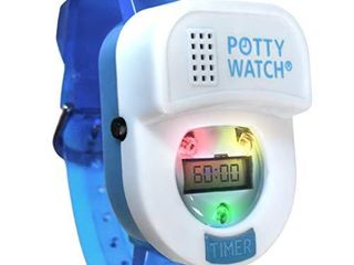 Potty Time  The Original Potty Watch   Water Resistant   Toilet Training Aid  Set Automatic Timers with Music for Gentle Reminders  Plays Songs   Flashing lights   Women   U S  Owned  Blue