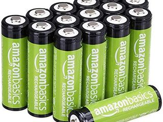 Amazon Basics 16 Pack AA Rechargeable Batteries  2000 mAh  Pre charged