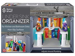 Expandable Under Sink Organizer and Storage I Bathroom Under the Sink Organizer Kitchen Under Sink Shelf I Cleaning Supplies Organizer Under Sink Storage I EXPANDABlE HEIGHT DEPTH   WIDTH
