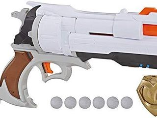 NERF Overwatch McCree Rival Blaster with Die Cast Badge   6 Overwatch Rival Rounds