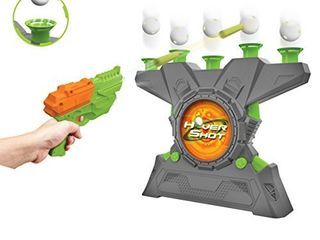 Merchant Ambassador Hover Shot 2 0 Game   air Powered Blaster  Foam Darts with Glow in The Dark Targets