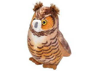 Wild Republic Audubon Birds Great Horned Owl with Authentic Bird Sound  Stuffed Animal  Bird Toys for Kids and Birders