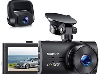 Campark Dual Dash Cam Native 4K 1080P Front and Rear Car Camera  H 265  Night Vision  loop Recording  Parking Monitor  G Sensor  Support 256GB