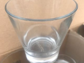 Case of new modern rocks glasses as pictured