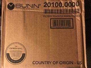 Case bunn commercial coffee filters 500 in a case