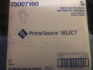 Case of poly gloves
