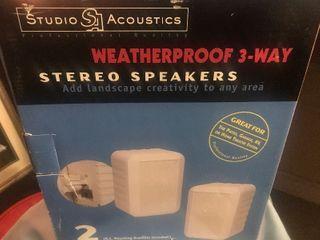 New waterproof speakers