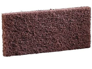 Two cases of five industrial scrub pads 3 x 8