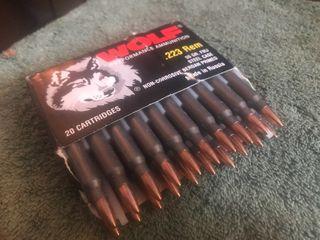 Box of 223 ammo cartridges box of 20