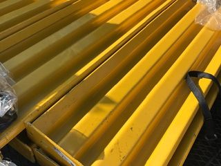 Commercial guard rails great for sectioning off warehouse protecting walls in warehouse use your imagination six 4 x 4 steel posts with bolt on bracket and 10 crossmembers heavy duty retail over  3000