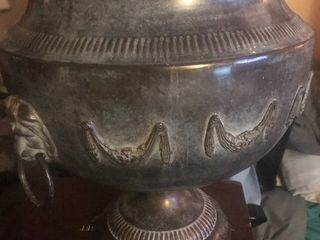 Nice heavy duty large metal decor vessel by the Bombay Company high Dollar item