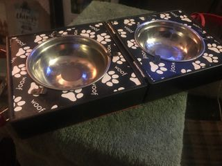 On the go pet food and water bowls travel set