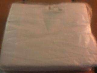 Set of six flat white sheets 81 x 108