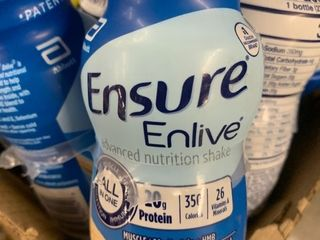 32  8 ounce bottles of ensure vanilla shakes high dollar item best used date june 2021 load up on it