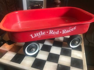 Small display size red wagon unique 14 inches long