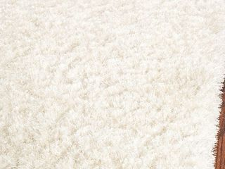 Safavieh Malibu Shag Collection MlS431W Handmade White Polyester Area Rug  2 6  x 4   Retail  35 03