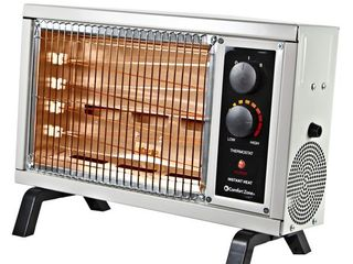 Comfort Zone CZ550 1500 Watt Electric Radiant Wire Element Space Heater  White  Retail  38 99