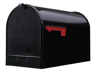Gibraltar Mailboxes Heavy Duty Extra Big Steel Stanley Post Mount Mailbox  Black  Retail  76 99