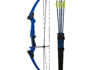 Genesis Archery Original Blue Compound Target Practice Bow Kit  Right Handed  Arrows Not Included   Retail  269 99