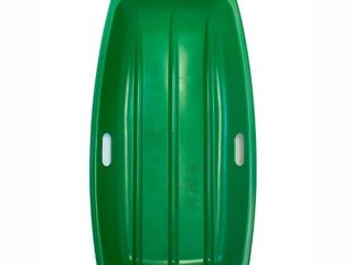 lucky Bums Kids 35 Inch 1 Person Plastic Snow Toboggan Sled with Pull Rope  Green  Retail  49 99