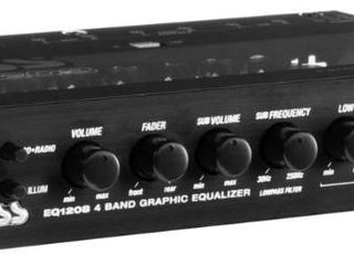 BOSS Audio 4 Band Pre Amp Equalizer w  Remote Subwoofer level Control EQ1208  Retail  45 49