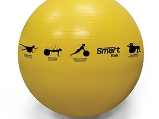 Prism Fitness 55cm Smart Self Guided Stability Exercise Medicine Ball  Yellow  Retail  32 99