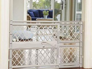 North States MyPet Paws 40  Portable Pet Gate  Expands   locks In place with no tools  Pressure Mount  Fits 26  40  wide  23  tall  light Gray