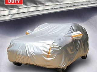 Tecoom Super Heavy Duty Multiple layers SUV Cover All Weather Waterproof Windproof Reflective Snow Sun Rain UV Protective Outdoor with Buckles and Belt Fit 180 195 inches SUV