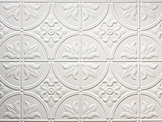 Global Specialty Products 309W Traditional Tin Style Panels for Glue Up Installation  Matte White