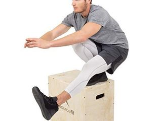 Prosource Fit 3 in 1 Wood Plyometric Jump Box for Crossfit  Agility  Vertical Jump Training   Plyo Workouts