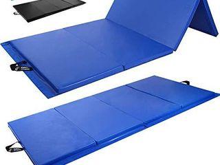 Day 1 Fitness Folding Gymnastics Gym Mat a 4 x10  Royal Blue   High Density Foam  Exercise  Yoga  Gymnastics  Crossfit  Aerobics  Tumbling Mats   Eco Friendly Foldable Pads