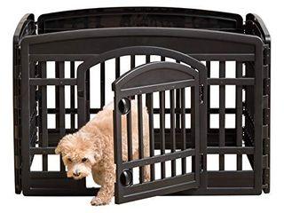 IRIS USA Ci 604E  Pet Playpen With Door  Black  1 Pack  Black R  24 H
