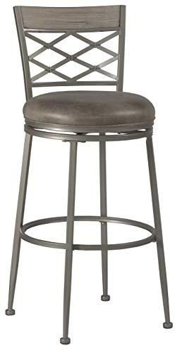 Hillsdale Hutchinson Swivel Counter Height Stool  Pewter