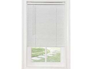 Achim Home Furnishings Cordless Morningstar 1  light Filtering Mini Blind  Width 29inch  Pearl White