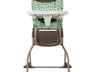 Cosco Simple Fold High Chair with 3 Position Tray  Elephant Squares