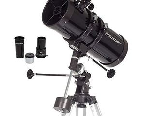 Celestron   PowerSeeker 127EQ Telescope   Manual German Equatorial Telescope for Beginners   Compact and Portable   Bonus Astronomy Software Package   127mm Aperture