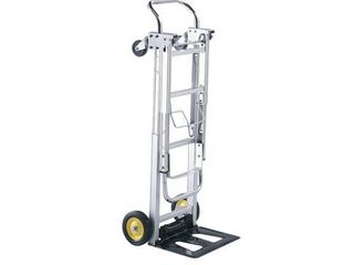 Safco Products Hide Away Convertible Hand Truck   Dual Function  400 lbs  Total Capacity  Aluminum Frame