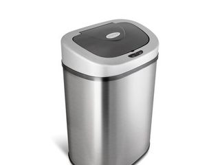 Nine Stars Motion Sensor Touchless 21 1 Gal Trash Can  Stainless Steel