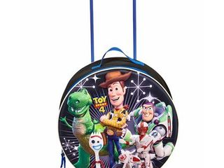 Disney Kids  Molded Rolling luggage Polyester Cartoon Character 10  Telescoping  Toy Story