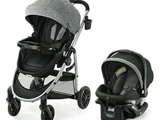 Graco Modes Pramette Travel System   Includes Baby Stroller with True Bassinet Mode  Reversible Seat  One Hand Fold  Extra Storage  Child Tray and SnugRide 35 Infant Car Seat  Ellington