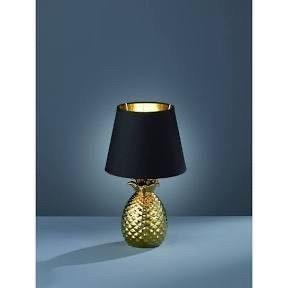 TRIO lIGHTING Pineapple Modern Gold Ceramic Table lamp