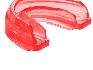 Shock Doctor 4100 Braces Mouthguard  Youth STRAPPED  RED