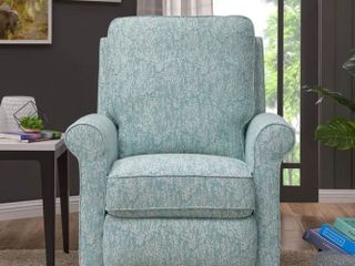 leni Manual Recliner Sky Blue   Creamy Retail  339