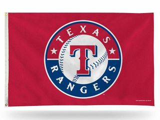 MlB Texas Rangers 3 Foot by 5 Foot Banner Flag