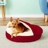 Snoozer Pet Products Cozy Cave Covered Cat   Dog Bed w Removable Cover  Red  Small  Retail 75 99